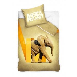 Detské obliečky pre deti hnedej farby so slonom