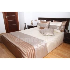 Béžové prehozy na postele s pásmi