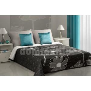 Prehozy na postele vzor sivý kvet