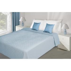 Prešívané prehozy na posteľ svetlo modrej farby
