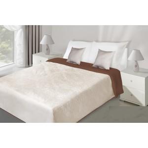 Béžový obojstranný prehoz na posteľ