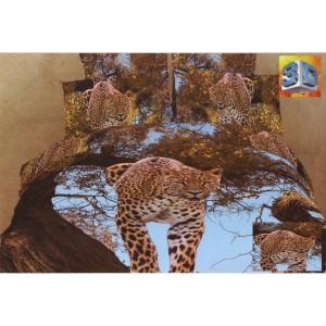 Hnedá obliečka na postele so vzorom leopardov