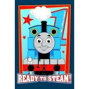 Vláčik Thomas uterák pre deti modrej farby