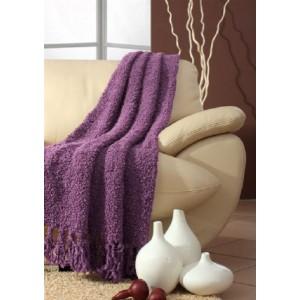 Prehozy cez gauč vo fialovej farbe