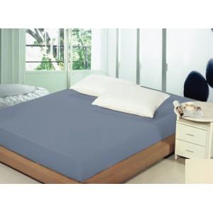 Bavlnené tmavomodré prestieradlá na posteľ