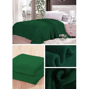 Deky tmavo zelenej farby na posteľ pre deti