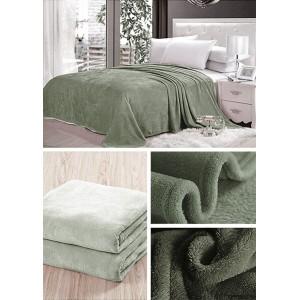 Sivo zelená prikrývka na gauč