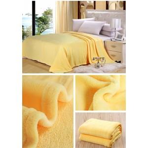 Žltá deka na gauč
