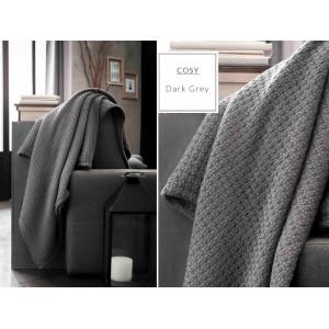 Kvalitné bavlnené deky v tmavosivej farbe