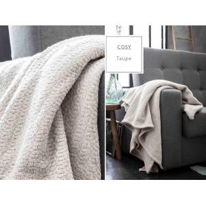 Teplé bavlnené deky béžovej farby