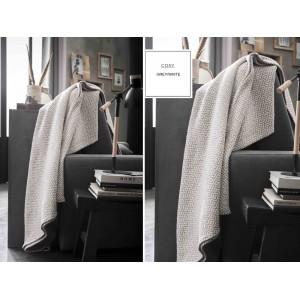 Tmavo sivá bavlnená deka so severským vzorom