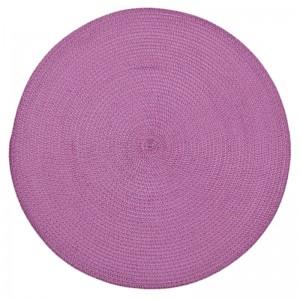 Kruhové kuchynské prestieranie ružovej farby na stôl