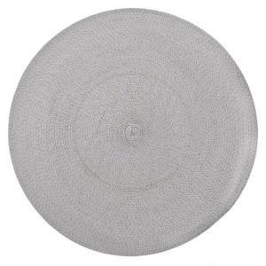 Kruhové dekoračné sivé prestieranie na stôl