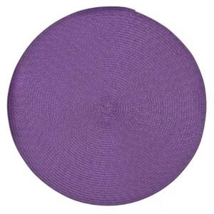 Fialové kruhové prestieranie na jedálenský stôl