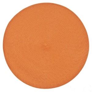 Moderné kruhové prestieranie v pomarančovej farbe na stôl