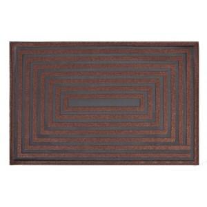 Moderné prestieranie obdĺžnikového vzoru v hnedej farbe na stôl