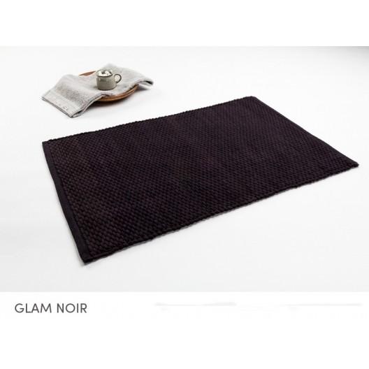 Čierne bavlnené predložky do kúpeľne