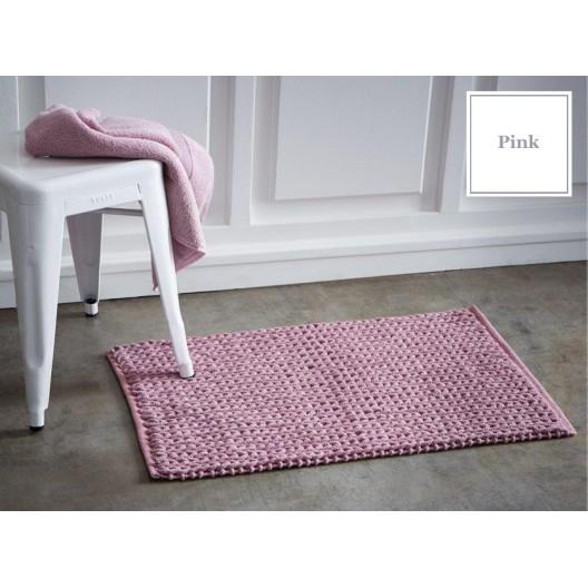Ružové francúzske bavlnené predložky do kúpeľne