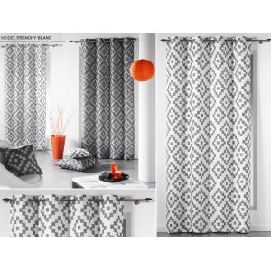 Dekoračné bielo sivé závedy na okno v škandinánskom štýle