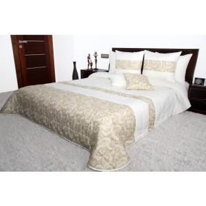 Luxusný krémovo béžovy prehoz na manželskú posteľ