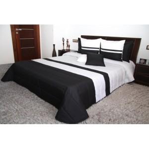 Prehoz na manželskú posteľ čierno bielej farby