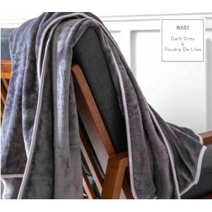 Tmavosivé francúzske hrejivé deky pre deti