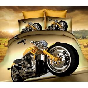 Motorka hnedé posteľné obliečky