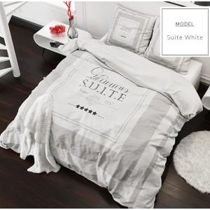 Kvalitné posteľné obliečky z mikrovlákna bielej farby