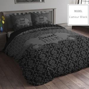 Súprava posteľných obliečok z mikrovlákna čiernej farby