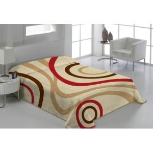 Béžová deka na gauč s prúžkami