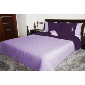 Obojstranné prehozy cez posteľ vo fialovej farbe