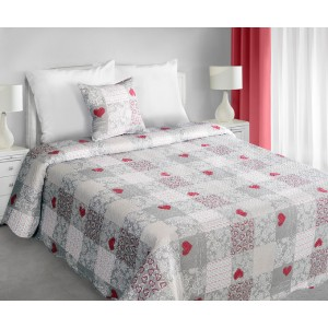 Luxusné obojstranné vintage prehozy na posteľ svetlo sivej farby
