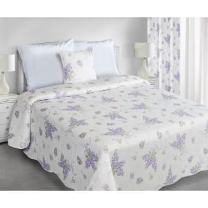 Obojstranné vintage prehozy cez posteľ v krémovej farbe