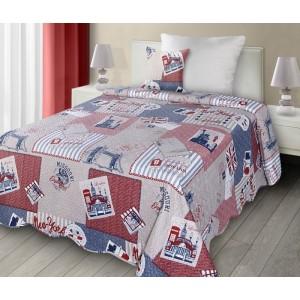 Béžové obojstranné patchwork prikrývky na posteľ