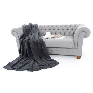 Tmavosivá hrejivá deka