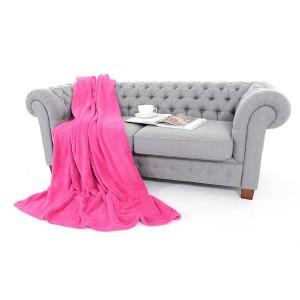 Mäkké ružové deky z mikrovlákna