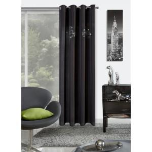 Hotové elegantné závesy čiernej farby do izby