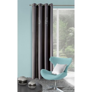 Luxusný sivý hotový záves do obývačky