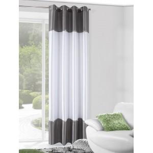 Luxusné hotové závesy na okno v striebornej farbe s aplikáciou kamienok