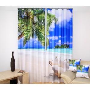 Exotická pláž  luxusné závesy na okná