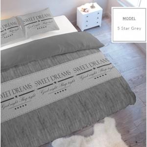 Sivé posteľné obliečky z mikrovlákna SWEET DREAMS