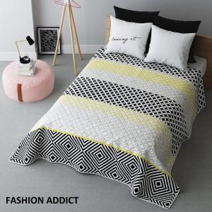 Moderný prehoz na posteľ s geometrickými útvarmi