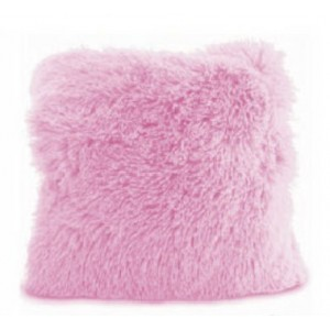 Svetlo ružové chlpaté obliečky na vankúše