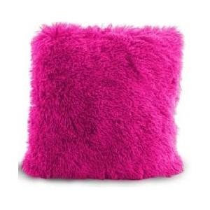 Tmavo ružová chlpatá obliečka na vankúš 40x40