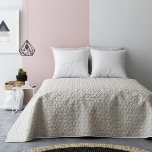 Luxusné obojstranné prehozy na posteľ béžovo krémovej farby