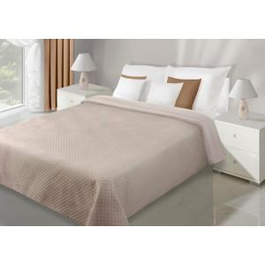 Luxusné obojstranné prehozy na posteľ krémovej farby