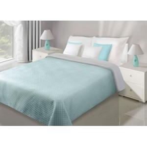 Modro sivá obojstranná prikrývka na manželskú posteľ