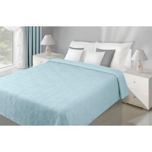 Obojstranná prikrývka na manželskú posteľ svetlo modrej farby
