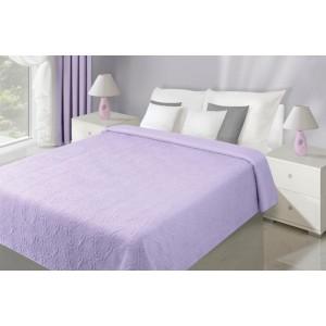 Fialové obojstranné prehozy cez posteľ