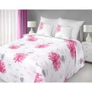 Luxusné obojstranné prehozy na posteľ bielej farby s kvetmi